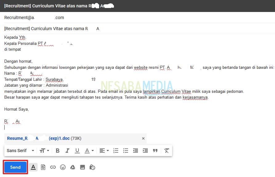cara mengirim cv lewat email yang baik yang baik dan benar