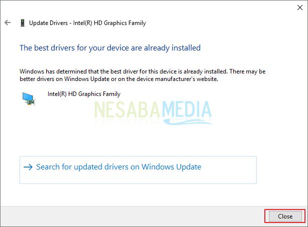 cara update driver VGA Nvidea