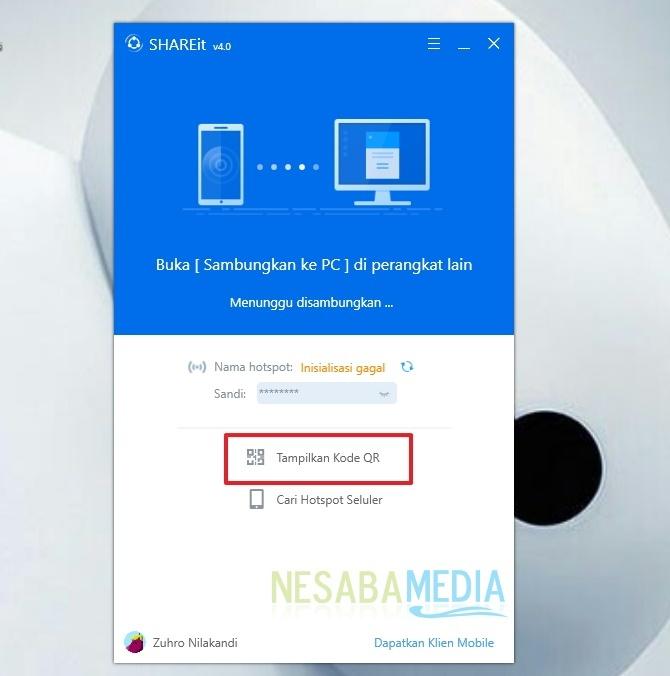 cara sharing data dari PC ke Android