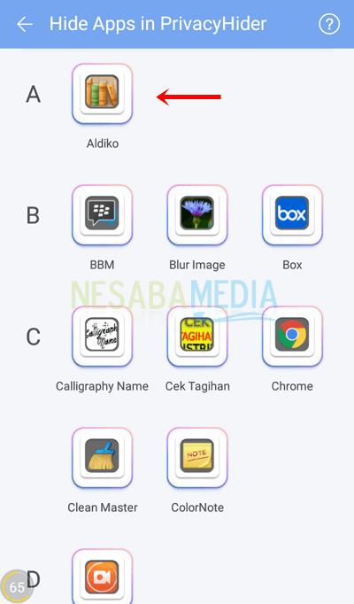 3 - pilih aplikasi