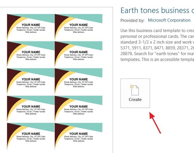 cara membuat kartu nama di Microsoft Word