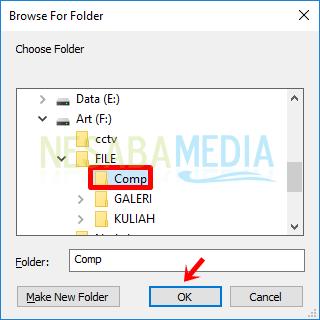 Cara 3 langkah 3 - pilih folder lalu klik OK