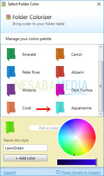 Langkah 4 - klik dua kali warna