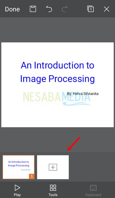Langkah 7 - tambah slide