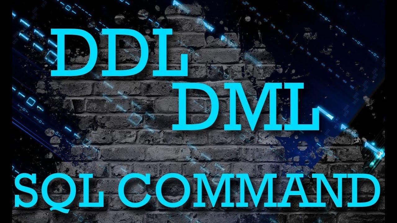ddl and dml in dbms pdf