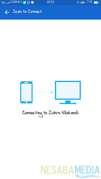 sedang menghubungkan dengan PC anda
