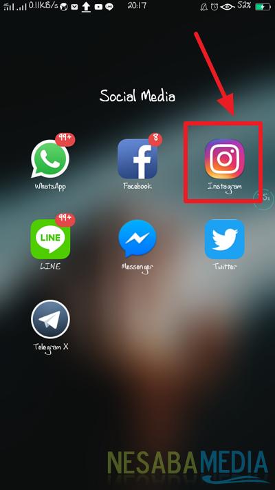 memiliki aplikasi instagram