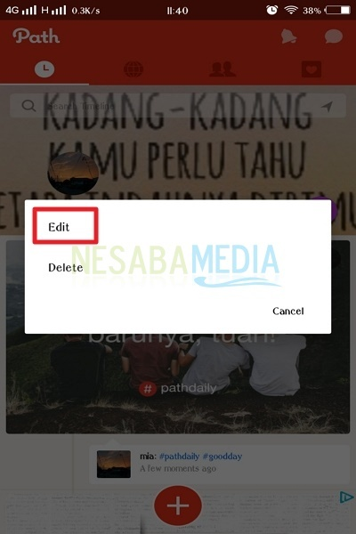 cara membuat path daily di android