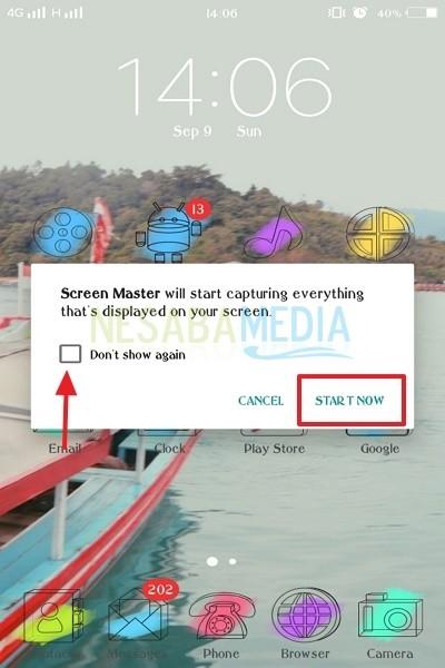 cara screenshot di android