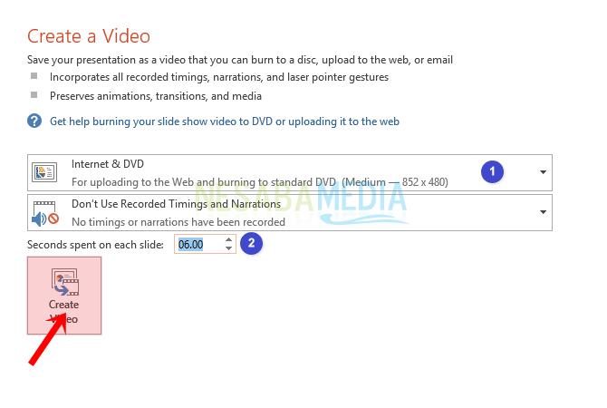 cara mengubah powerpoint menjadi video