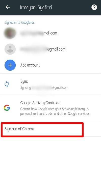 cara logout gmail di hp