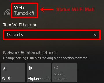 langkah 2 - wifi dalam keadaan mati