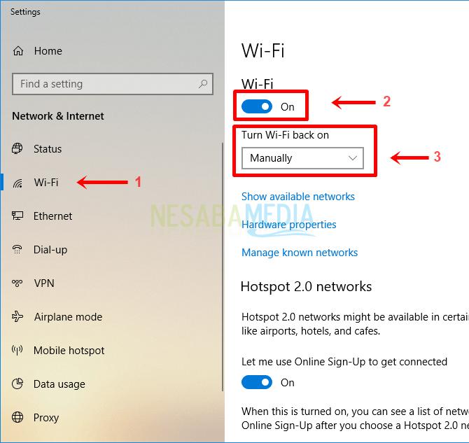 cara mengatasi laptop tidak bisa connect Wifi windows 10