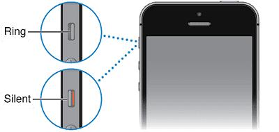 melalui tombol silent di sisi kiri iphone