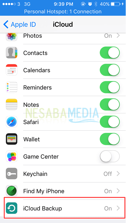 cara backup data di iPhone