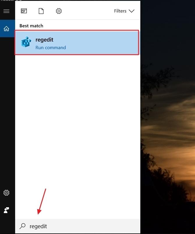 cara membuka registry editor