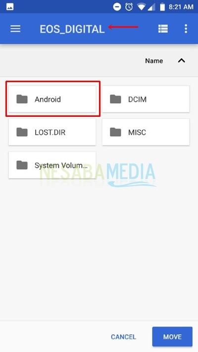 cara menyimpan hasil download ke kartu memori
