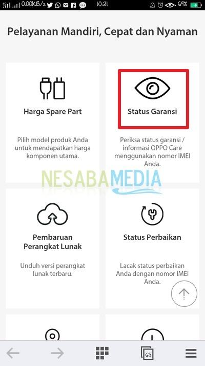 Cara Cek Garansi HP OPPO dengan mudah