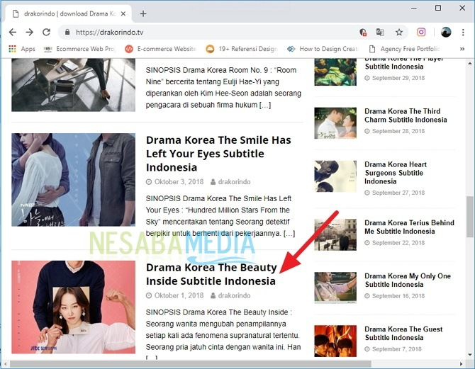 cara download drama korea lewat laptop 1