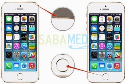 untuk screenshoot di iphone