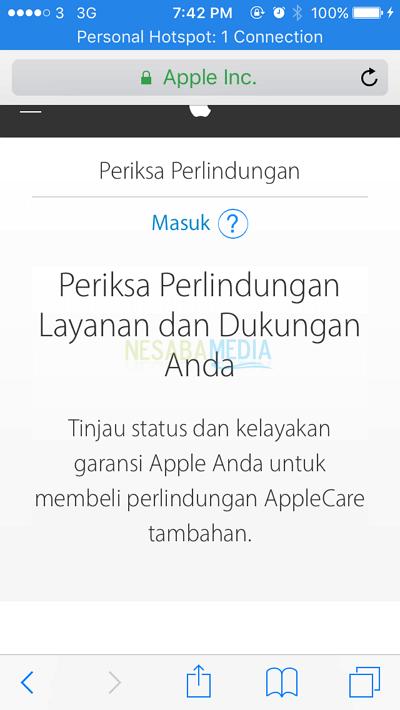 Cara Cek Garansi iPhone dengan IMEI