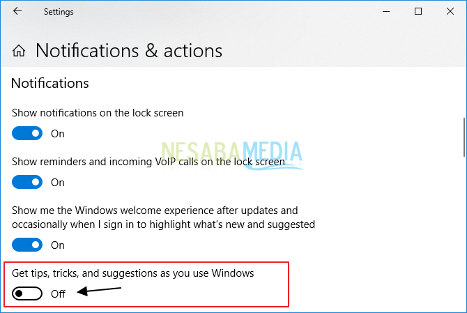 cara menghapus iklan di Windows 10
