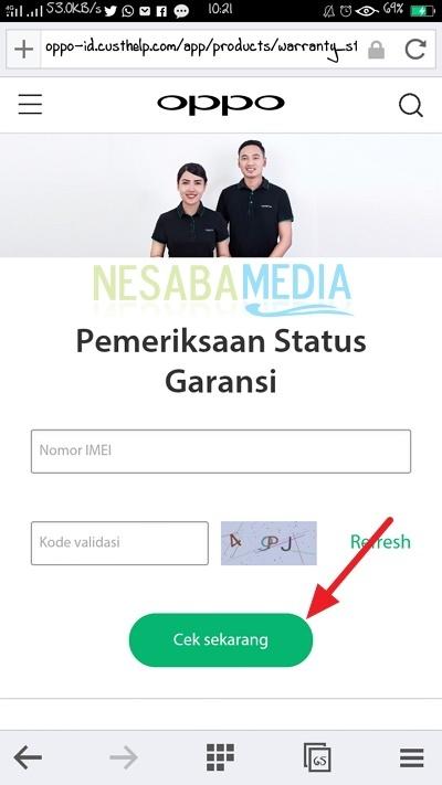 input IMEI