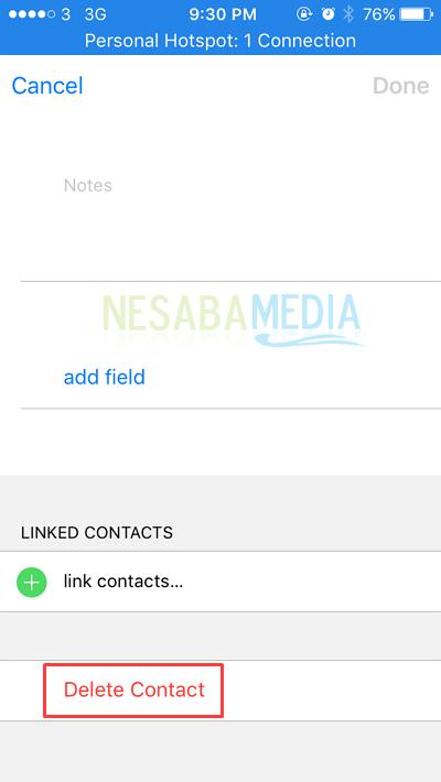 cara menghapus kontak di Iphone untuk pemula