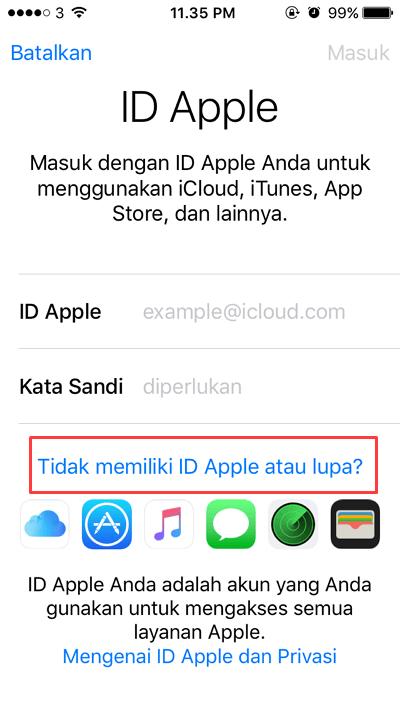 Cara Membuat ID Apple di Iphone
