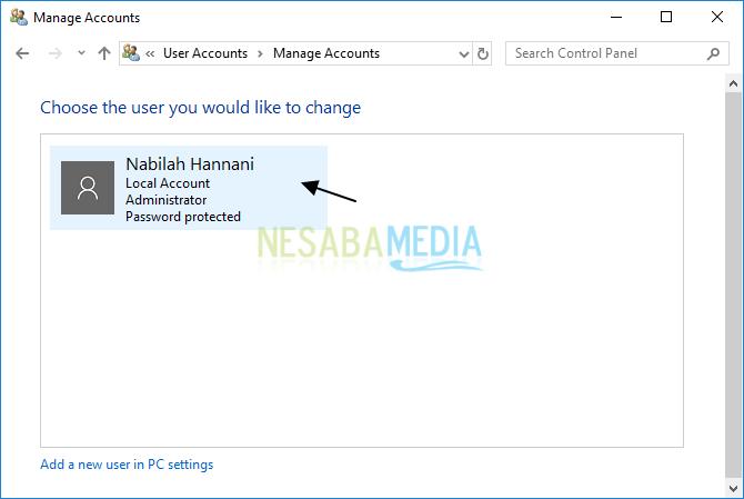 cara menghapus akun administrator di Windows 10
