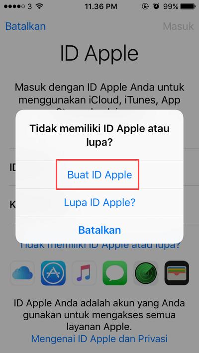 untuk membuat id apple baru - cara menggunakan iphone