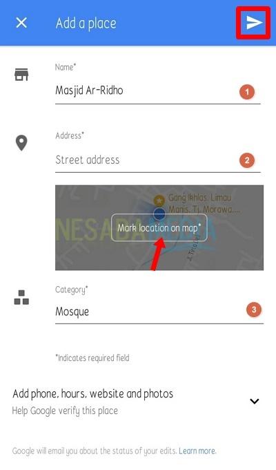 cara membuat lokasi baru di Google Maps