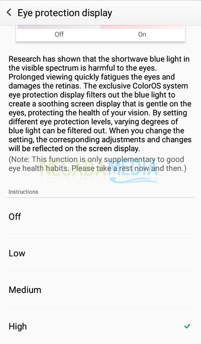 cara mengaktifkan mode baca atau mode malam di HP Android