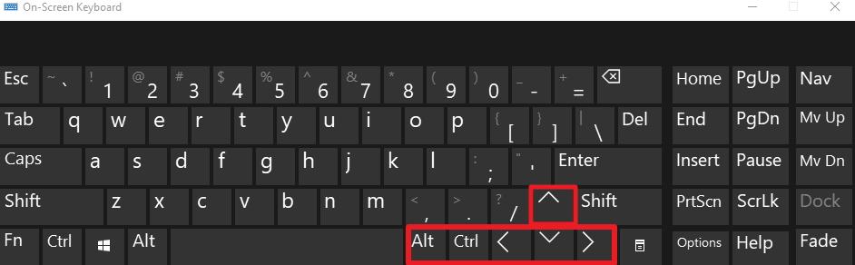 menggunakan keyboard