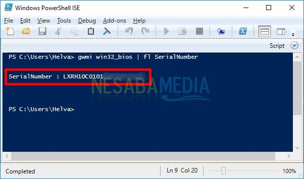 cara mengetahui serial number pada laptop dengan powershell