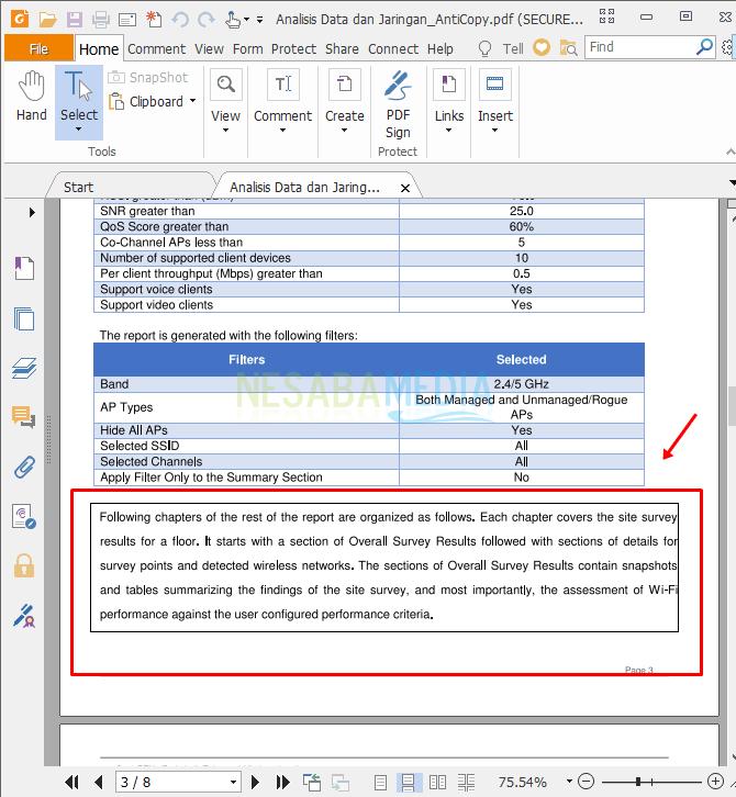 cara melindungi halaman PDF dari copy paste