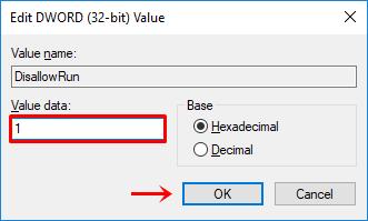 Langkah 8 - ubah value