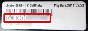 cara mengetahui serial number pada laptop dari belakang laptop