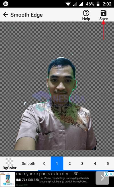 Menggunakan Background Eraser 9