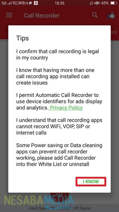 cara merekam panggilan tanpa aplikasi