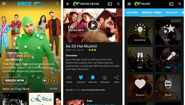 aplikasi untuk nonton film India - Eros Now
