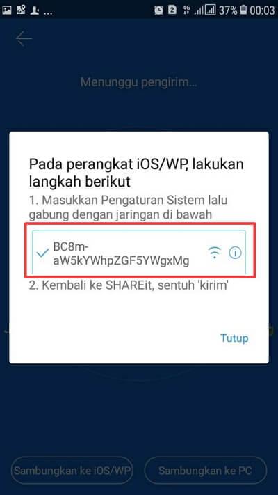 cara menggunakan SHAREit di Iphone