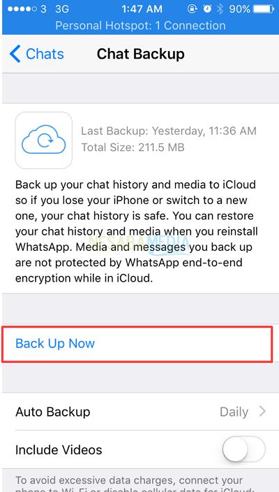 Cara Mengembalikan Chat Whatsapp yang Terhapus di iPhone
