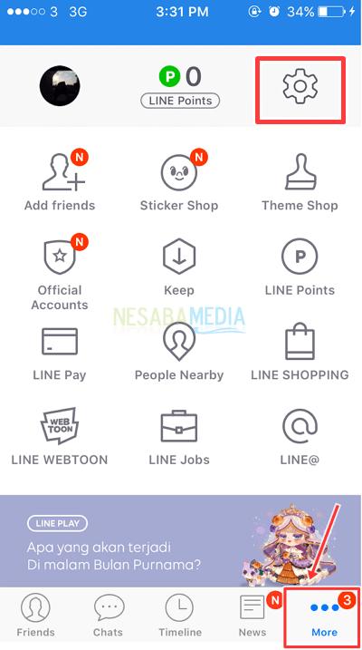 Cara Logout LINE di iPhone - fitur di line untuk backup