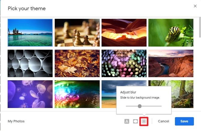 blur - Cara Mengganti Tema Gmail