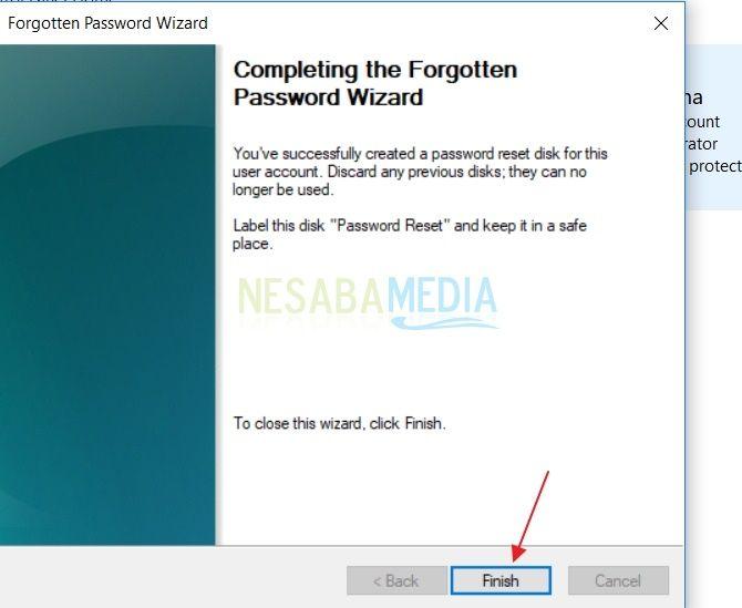 7-caramembuat password reset disk di Windows