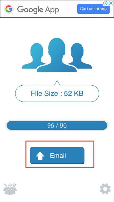 sinkronisasi dengan email