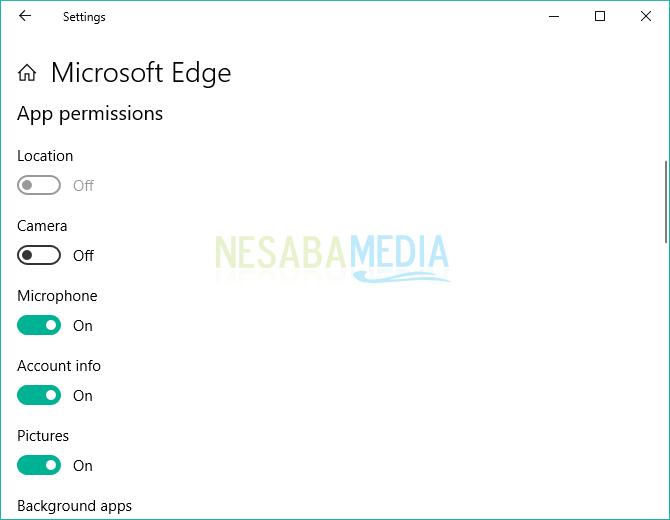App Permission Ms Edge