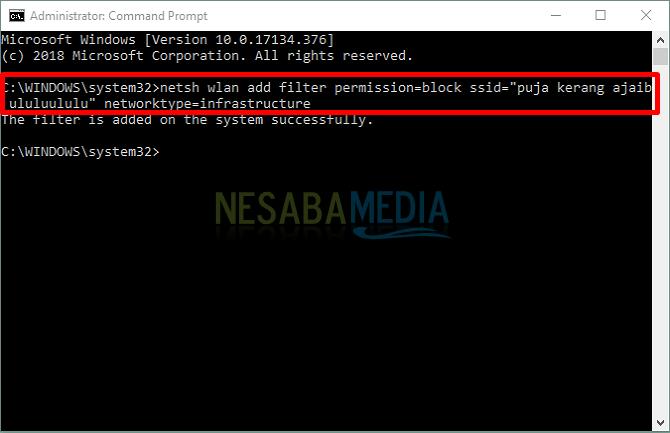 Block SSID WiFi