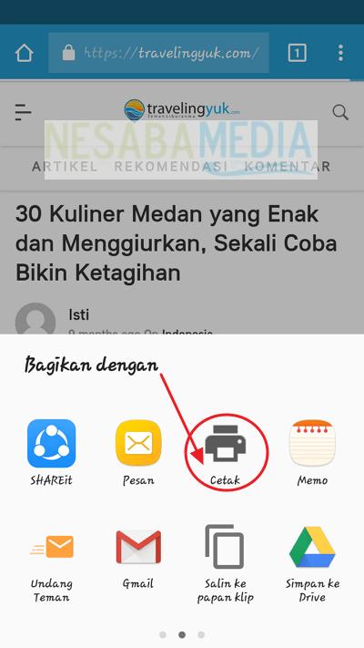 pilih cetak/print